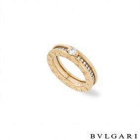 Bvlgari YellowGold Diamond B.Zero1 Ring Size 50